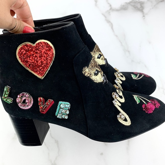 New Ny Liverpool Cat Meow Ankle Boots